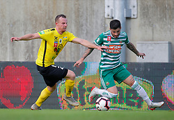 21.07.2019, Sportplatz, Allerheiligen bei Wildon, AUT, OeFB Uniqa Cup, USV Allerheiligen vs SK Rapid Wien, 1. Runde, im Bild Alexander Kager (SV Allerheiligen) und Taxiarchis Fountas (SK Rapid Wien) // Alexander Kager (SV Allerheiligen) and Taxiarchis Fountas (SK Rapid Wien) during the ÖFB Uniqa Cup, 1st round match between USV Allerheiligen and SK Rapid Wien at the Sportplatz in Allerheiligen bei Wildon, Austria on 2019/07/21. EXPA Pictures © 2019, PhotoCredit: EXPA/ Erwin Scheriau