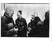 Jake Chapman, Caragh Thuring and David Falconer at David Falconer's exhibition opening. Chapman Fine Arts. Fashion St. London. 22 Jan 1998. © Copyright Photograph by Dafydd Jones 66 Stockwell Park Rd. London SW9 0DA Tel 020 7733 0108 www.dafjones.com