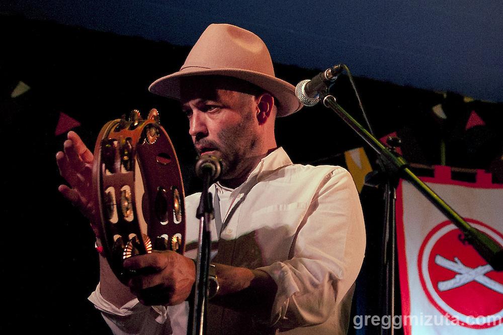 Amuma Says No's Sean Uranga Aucutt performs at The Basque Center during Day 4 of the Treefort Music Fest on March 26, 2016 in Boise, Idaho. (Gregg Mizuta/greggmizuta.com)<br /> <br /> Amuma Says No (Jill Aldape, Dan Ansotegui, Sean Uranga Aucutt, Rod Wray, Micah Deffries, David Gluck).