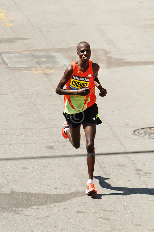 Wilson Chebet, Kenya, approaches finish