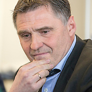 Sporting director Axel Thoma is pictured during a press conference of Super League (National League A) soccer team Grasshopper Club Zuerich (GCZ) held at the GC Campus in Niederhalsi, Switzerland, Friday, Feb. 6, 2015. (Photo by Patrick B. Kraemer / MAGICPBK)
