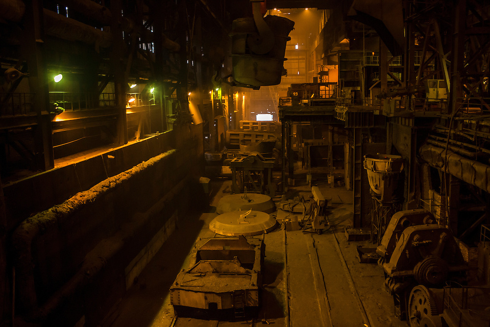 The converter at the Azovstal Iron and Steel Works on Friday, March 18, 2016 in Mariupol, Ukraine.