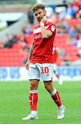 Matty Taylor of Bristol City shows a look of dejection - Mandatory by-line: Nizaam Jones/JMP- 18/08/2018 - FOOTBALL - Ashton Gate Stadium - Bristol, England - Bristol City v Middlesbrough - Sky Bet Championship