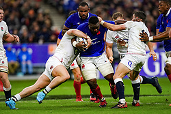 Demba Bamba (FRA) during the Rugby 6 Nations Tournament, France vs England (24-17) in Stade de France, St-Denis, France, on February 2nd, 2020. Photo by Julien Poupart/ABACAPRESS.COM