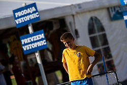 Fan zone prior to the football match football match between NK Bravo and NK Rudar Velenje in 1sth Round of Slovenian Cup 2019/20, on August 15, 2019 in Sports park ZAK, Ljubljana, Slovenia. Photo by Grega Valancic / Sportida
