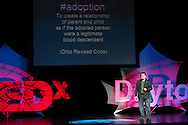 Keith Klein speaks during TEDx Dayton at the Victoria Theatre in downtown Dayton, Friday, November 15, 2013.  TEDx Dayton is a localized version, and uses a format similar to national TED (Technology, Entertainment, Design) events.