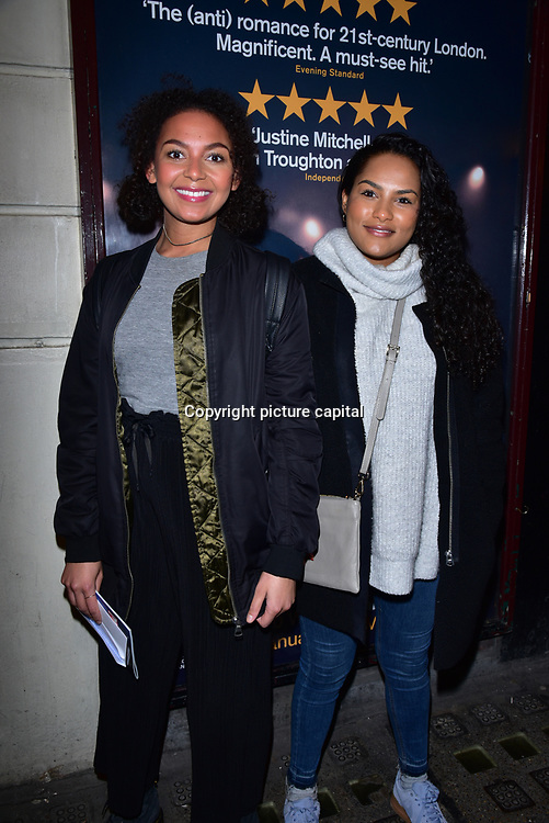 London, England, UK. 23 January 2018. Lois Chimimba (L) Arrivers at Beginning - press night at Ambassadors Theatre.