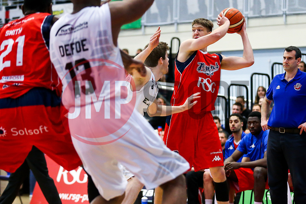 Mike Vigor of Bristol Flyers - Rogan Thomson/JMP - 28/04/2017 - BASKETBALL - SGS Wise Arena - Bristol, England - Bristol Flyers v Newcastle Eagles - BBL Championship Play-Off Quarter Final First Leg.