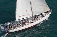 SPAIN, Alicante. 3rd November 2011. Volvo Ocean Race Legends Regatta. Whitbread Heritage, ex Great Britain II.