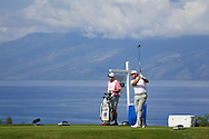 January 08 2016: Graeme McDowell tees off on number five during the Second Round of the Hyundai Tournament of Champions at Kapalua Plantation Course on Maui, HI. (Photo by Aric Becker)