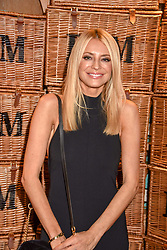 Tess Daly at the launch of the Fortnum & Mason Christmas & Other Winter Feasts Cook Book by Tom Parker Bowles held at Fortnum & Mason, 181 Piccadilly, London, England. 17 October 2018.
