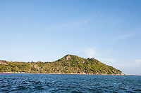 Seascape with island in background; Koh Pha Ngan; Thailand