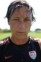 WEST PALM BEACH, FL - MAY 2:  Abby Wambach of the US Women's Soccer team train in West Palm Beach, Florida on May 2, 2011.  (Photo by Jed Jacobsohn)