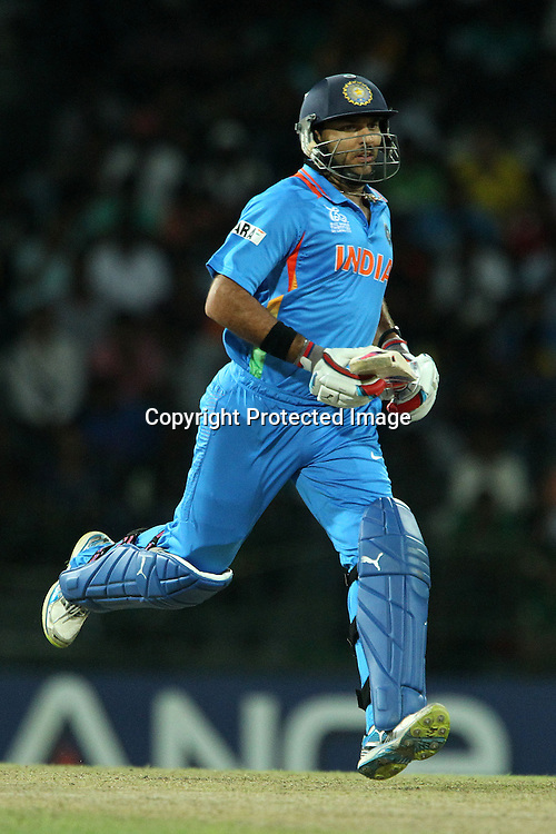 Yuvraj Singh during the ICC World Twenty20 Super 8s match between Australia and India held at the Premadasa Stadium in Colombo, Sri Lanka on the 28th September 2012<br /> <br /> Photo by Ron Gaunt/SPORTZPICS
