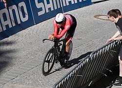 26.09.2018, Innsbruck, AUT, UCI Straßenrad WM 2018, Einzelzeitfahren, Elite, Herren, von Rattenberg nach Innsbruck (54,2 km), im Bild Matthias Brändle (AUT) // Matthias Brändle of Austria during the men's individual time trial from Rattenberg to Innsbruck (54,2 km) of the UCI Road World Championships 2018. Innsbruck, Austria on 2018/09/26. EXPA Pictures © 2018, PhotoCredit: EXPA/ Reinhard Eisenbauer