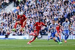 Goal, Josh Brownhill of Bristol City scores, Brighton & Hove Albion 0-1 Bristol City - Mandatory by-line: Jason Brown/JMP - 29/04/2017 - FOOTBALL - Amex Stadium - Brighton, England - Brighton and Hove Albion v Bristol City - Sky Bet Championship