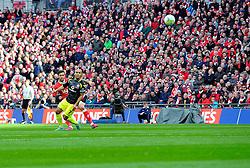 Bristol City's Marlon Pack shoots  - Photo mandatory by-line: Joe Meredith/JMP - Mobile: 07966 386802 - 22/03/2015 - SPORT - Football - London - Wembley Stadium - Bristol City v Walsall - Johnstone Paint Trophy Final
