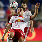 HARRISON, NEW JERSEY- OCTOBER 15: Aaron Long #33 of New York Red Bulls in action during the New York Red Bulls Vs Atlanta United FC, MLS regular season match at Red Bull Arena, Harrison, New Jersey on October 15, 2017 in Harrison, New Jersey. (Photo by Tim Clayton/Corbis via Getty Images)