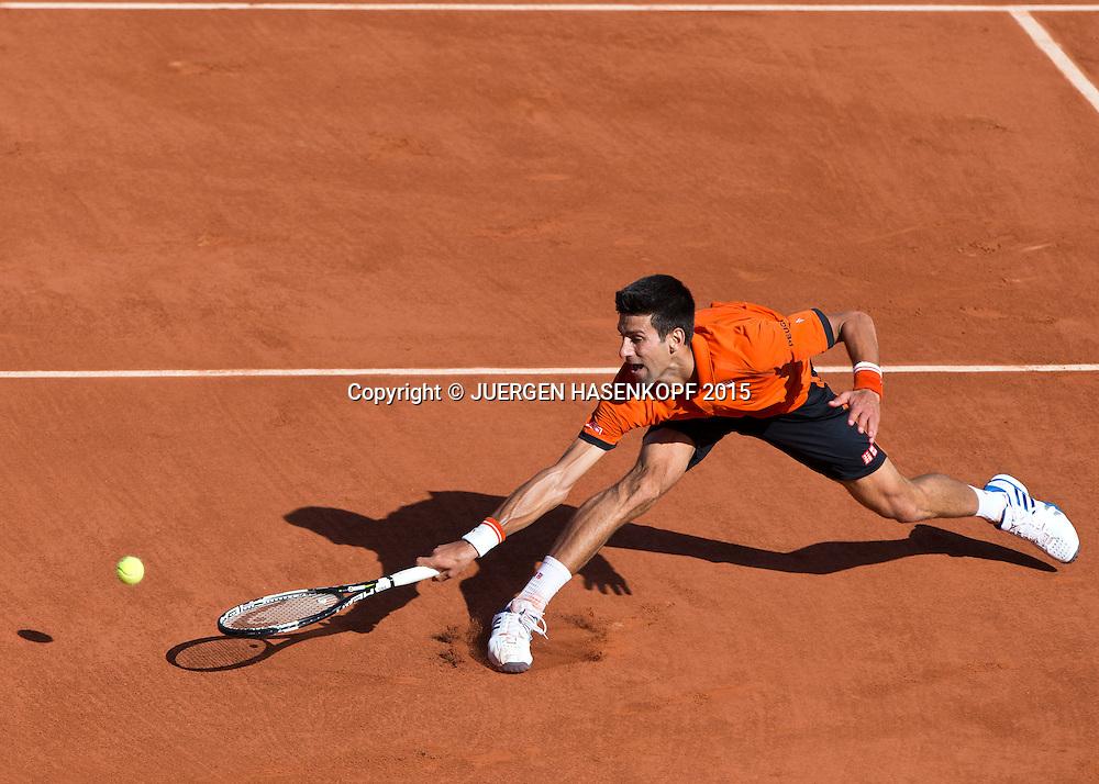 Novak Djokovic (SRB)<br /> <br /> Tennis - French Open 2015 - Grand Slam ITF / ATP / WTA -  Roland Garros - Paris -  - France  - 3 June 2015.