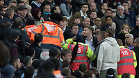 Football - 2017 / 2018 Premier League - West Ham United vs Stoke City<br /> <br /> Tempers begin to fray amongst the West Ham fans again as their team struggle to break the deadlock against Stoke at the London Stadium<br /> <br /> COLORSPORT/DANIEL BEARHAM