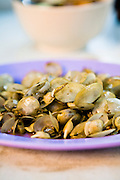 La-la, stir fried baby clams at Green House hawker center.