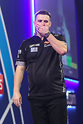 Luke Woodhouse reaction after missing a dart at a double to win his match against Michael Smith during the PDC William Hill World Darts Championship at Alexandra Palace, London, United Kingdom on 15 December 2019.