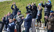 FODBOLD: FC Helsingør fans under kampen i NordicBet Ligaen mellem FC Fredericia og FC Helsingør den 10. marts 2019 på Monjasa Park i Fredericia. Foto: Claus Birch