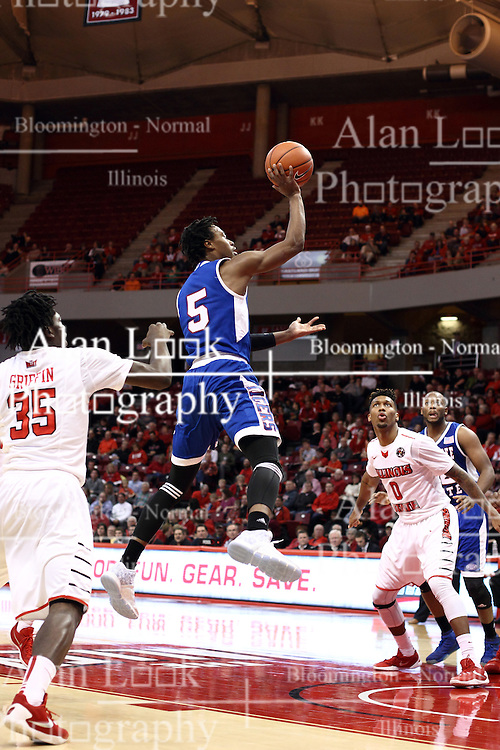 22 December 2015: Tahjere McCall(5) open in the lane. Illinois State Redbirds host the Tennessee State Tigers at Redbird Arena in Normal Illinois (Photo by Alan Look)