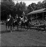 05/08/1960<br /> 05/08/1960<br /> 05 August 1960<br /> R.D.S Horse Show Dublin (Friday). Aga Khan Trophy. The Danish Team for the Aga Khan Competition at the the Dublin Horse Show, Ballsbridge.