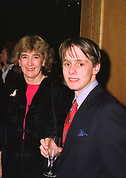 MRS MINNIE CHURCHILL ex wife of Winston Churchill and her son  MR JACK CHURCHILL, at an exhibition in London on January 7th 1998.MEK 37 2ORO