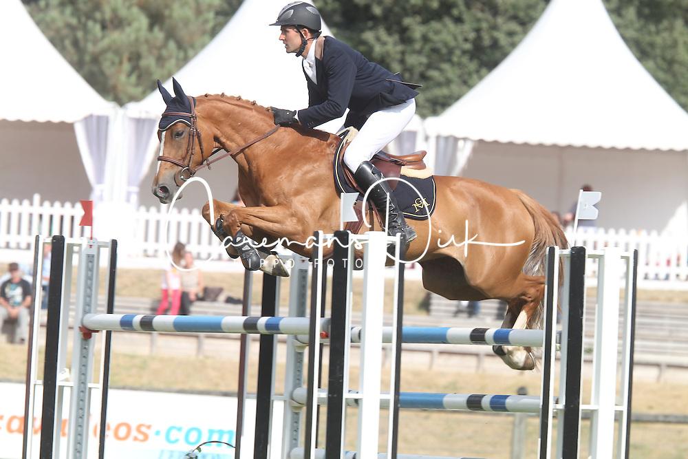 Boudant Francois Xavier - Sultan Des Ibis<br /> 6 Years old horses<br /> Championship Young Horses Fontainebleau 2012<br /> &copy; Hippo Foto - Counet Julien