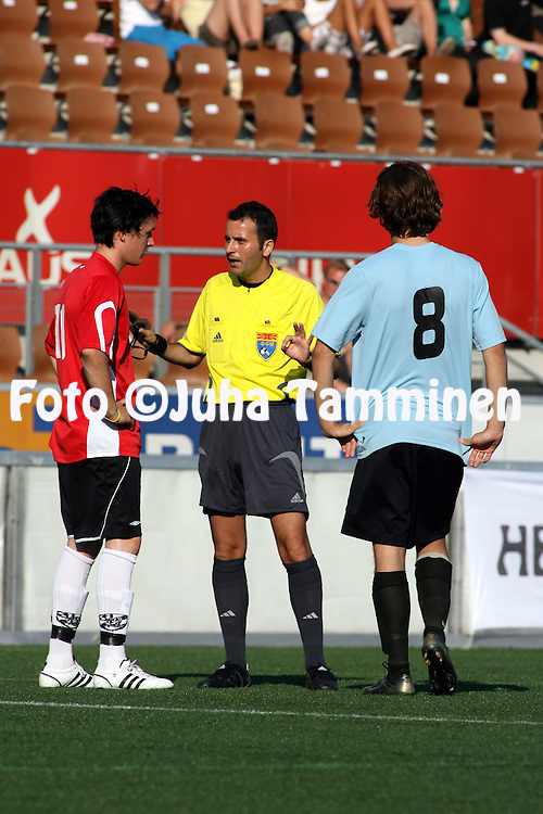 11.07.2008. Finnair Stadium, Helsinki..Helsinki Cup 2008.A-19 loppuottelu, Minas (Espanja) - VJS/A.©Juha Tamminen