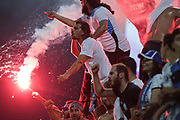 EUROPA CUP 3RD QUALIFYING ROUND APOLLON LIMASSOL V ABERDEEN PLAYED IN THE AEK ARENA, LARNACA, CYPRUS.<br /> PIC OF Apollon fans<br /> PIC DEREK IRONSIDE / NEWSLINE MEDIA