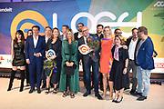 Koningin Maxima met o.a. Jouk Pleiter, oprichter van Backbase, heeft de LOEY Award 2017 gewonnen
