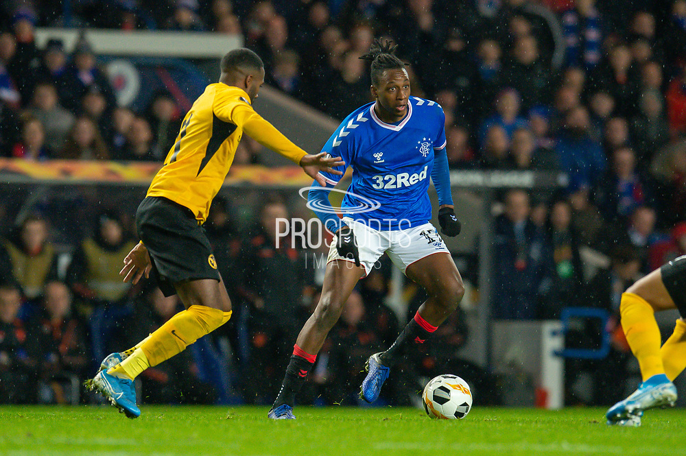 Joe Aribo (#17) of Rangers FC during the Europa League Group G match between Rangers FC and BSC Young Boys at Ibrox Park, Glasgow, Scotland on 12 December 2019.
