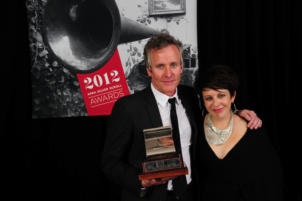 Anthony Healey and Stephanie Brown, winner of the APRA Silver Scroll Awards 2012. Auckland Town Hall. 13 September 2012.