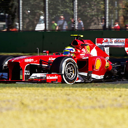 F1 Australian Grand Prix 15 March 2013 Practice Session 2.Practice Session 2. Felipe Massa Scuderia Ferrari turn 6..(c) MILOS LEKOVIC | StockPix.eu