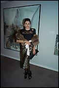 EVA LANSKA;  Sotheby's Frieze week party. New Bond St. London. 15 October 2014.