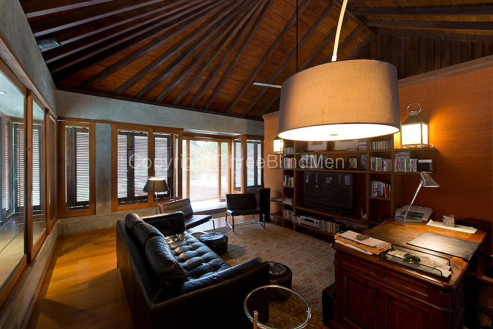 Channa and Ajit Gunewardene home in Colombo 7. Sri Lanka. September 2012<br /> Ajit's study on the top floor of the house.<br /> Dominic Sansoni/The Wall Street Journal<br /> HOMEFRONT - Gunawardene Status: Assigned Publication: WSJ Daily Section: M - Mansions