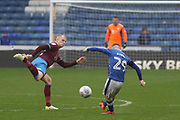 Jack Byrne Oldham Midfielder during the EFL Sky Bet League 1 match between Oldham Athletic and Scunthorpe United at Boundary Park, Oldham, England on 28 October 2017. Photo by George Franks.