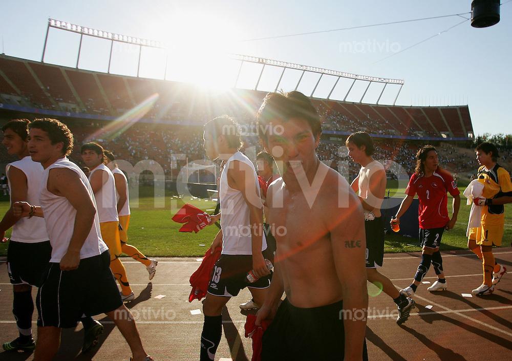 Fussball International U 20 WM  Chile vs Portugal Schlussjubel (CHI) mit Gary MEDEL.