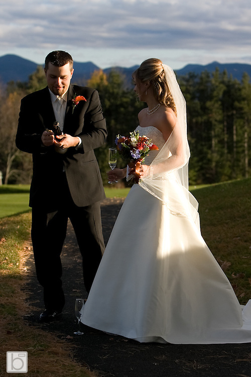 Oct. 18, 2008: Holly McKenna and Josh Sidebottom Wedding at Lake Placid Club Golf House.