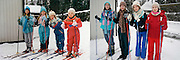 In the bath tub and on the ski slope: Photographer recreates a host of childhood holiday snaps 20 years on with her sisters<br /> <br /> A Finnish photographer set out to recreate childhood holiday pictures taken by her father 20 years ago with amusing and touching results.<br /> Wilma Hurskainen rounded up her three younger sisters and set off for the destinations they visited with their parents - and this time she directed the shots herself.<br /> The four siblings did their best to mimic the original images, which were taken between 1986 and 1990. They struck the same poses and imitated their facial expressions, acknowledging the difficulty encountered in family photos when everyone needs to look at the camera at the same time.<br /> They even tried to pay homage to their '80s fashions by wearing the same colours and styles of outfit - sporting matching tops or hoodies in different colours.<br /> In the series, titled 'Growth', Hurskainen snapped the scenes as closely as she could to her dad's efforts, to give a glimpse of how much the sisters have physically grown over the past 20 years.<br /> The matching sailor dresses might now be a thing of the past, but the siblings effortlessly slip into their younger roles - and now they are even taller than their mother.<br /> <br /> In one particularly poignant shot, the grown-up sisters pose on a sofa but cannot fully recreate the shot as their grandfather has since died.<br /> Hurskainen wrote on her website that she would love to get her sisters together again for a new set of the photos as they get older.<br /> The photographer told the My Modern Metropolis website: 'The most important thing is that in the end my sisters were pleased with the whole thing.<br /> 'It was sometimes a little hard finding the places of the original photos, finding the proper clothing and dealing with the emotions that emerged because of the process of digging up the past.'<br /> Photo shows:The background has changed a bit but these grown-up Finnish sisters can match their eighties facial expressions to near-perfe