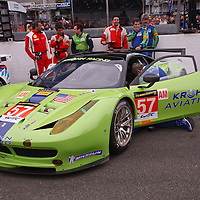 #57 Ferrari 458 Italia, Krohn Racing, drivers: Jonsson, Krohn, Mediani, GTE AM, Le Mans 24H 2013