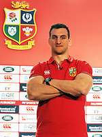 Rugby Union - 2017 British & Irish Lions Tour to New Zealand - Squad & Captain Announcement Press Conference<br /> <br /> Lions Captain, Sam Warburton at the Hilton Syon Park, London.<br /> <br /> COLORSPORT/ANDREW COWIE