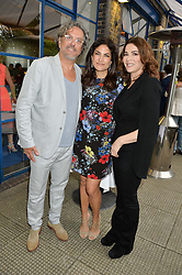 Left to right, GIORGIO LOCATELLI, DIALA KHLAT and NIGELLA LAWSON  at an Evening at The River Cafe in aid of the NSPCC held at The River Cafe, Thames Wharf, Rainville Road, London on 19th June 2016