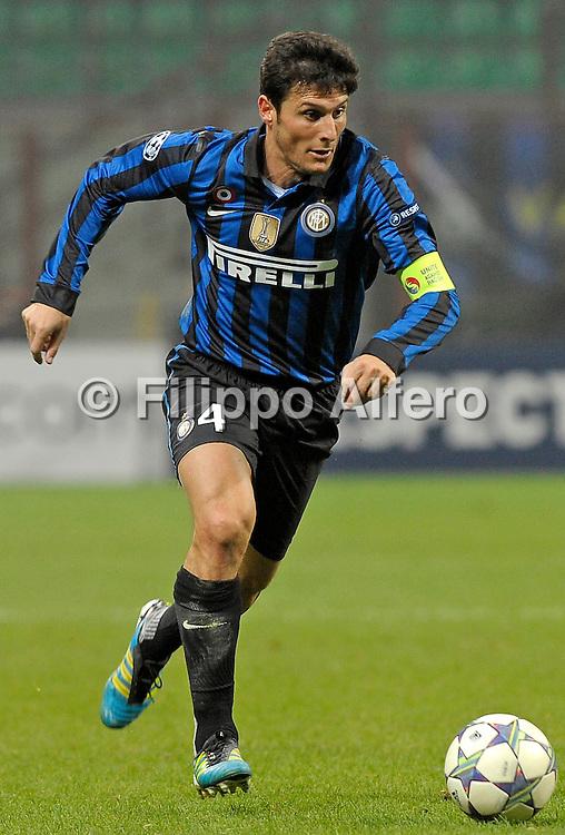 &copy; Filippo Alfero<br /> Inter vs Lille - Champions League 2011 / 2012<br /> Milano, 02/11/2011<br /> sport calcio<br /> Nella foto: Javier Zanetti