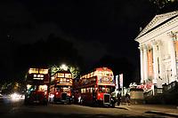 Vintage Buses in London at Night, Tate Britain, London, UK, 07 September 2019, Photo by Richard Goldschmidt