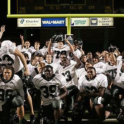 07 November 2008:  Ponchatoula Green Wave RB Joseph Green (36), Jacques West, Grant Lanier, Darvron Nora, Ben Schaff, Darin Moore, Giovanni Jacobs, Kaleb Muse, Darin Moore, Michael Williams, Corey Morse and team The Ponchatoula Green Wave defeated District 7-5A rival the Hammond Tornados 34-13 at Strawberry Stadium in Hammond, LA . The Green Wave with the win clinched a spot in the 2008 playoffs.