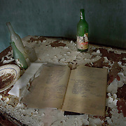 An abandoned house in Pripiat, Chernobyl
